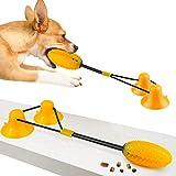 You Pet Palla con Ventosa,Gioco Ventosa Cane,Strumento per la Pulizia dei Denti del Giocattolo da Masticare molare Cane da Masticare per Animali Domestici per Cani (Giallo)