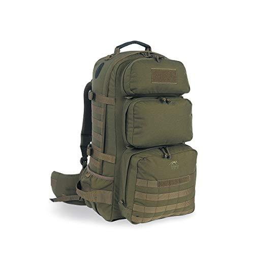 Tasmanian Tiger TT Rucksack Trooper Pack Molle-Kompatibler Trekking und Wander-Rucksack mit Regen-Hülle und vielen Fächern, Oliv 50L