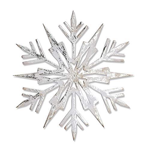 Sizzix 661599 Mini papier sneeuwvlokken van Tim Holtz Thinlits stansen, 14-delige set, staal, meerkleurig, 19,1 x 14,4 x 0,4 cm
