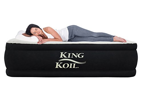 King Koil Queen Air Mattress with Built-in Pump -...