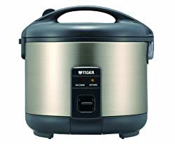 Rice Cooker and Warmer, Stainless Steel Gray
