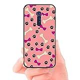 HUAI Pata del Perro del diseño del Gato Negro de la Cubierta de Shell Suave Caja del teléfono for OPPO Reno2 Z R15 R17 R11 R15 Pro R9S Plus R9 (Color : A10, Material : For OPPO R9)