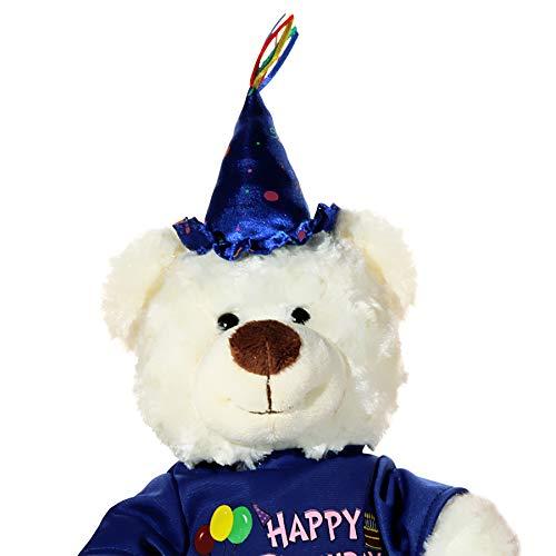 Preis am Stiel Teddybär ''Happy Birthday'' mit Musik | Geschenk | Kuscheltier
