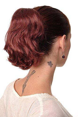 WIG ME UP - Postiche extension natte brun fauve courte look rebelle avec pince-papillon pour le maintien 20 cm T6545-35