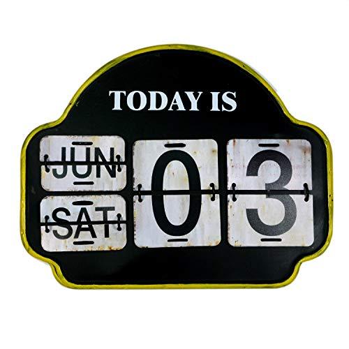 【USA アメリカン デザイン】カレンダー 日めくり カフェ ガレージ インダストリアル ビンテージ バイカー インテリア 看板 ;AVCA-001