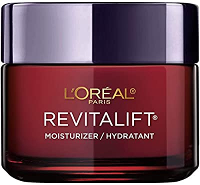 L'Oreal Paris Skincare Revitalift Triple Power Anti-Aging Face Moisturizer with Pro Retinol, Hyaluronic Acid, and Vitamin C to minimize wrinkles, solid, and brighten skin, 2.55 oz.