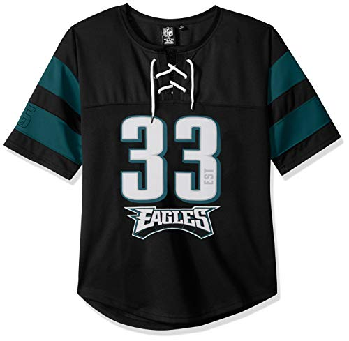 Ultra Game NFL Philadelphia Eagles Womenss Penalty Box Jersey, Team Color, Large