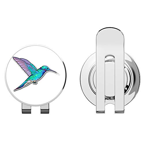 888 Graphics Hummingbird Colorful Golf Hat Clip with Magnetic Ball Marker