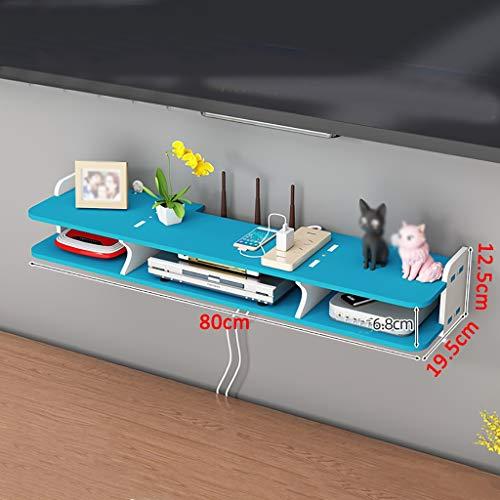 Tablettes flottantes Holz Plastic Board TV-Schrank Wandbehang Set-Top-Box-Regal, moderner TV-Stand-minimalistischer TV-Schrank Wanddekoration TV-Konsolen-Regale für Wohnzimmer Schlafzimmer étagère de