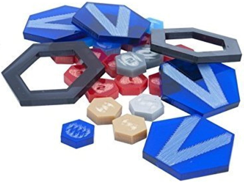 Dreadball Xtreme Acrylic Counters - bluee Set by DreadBall