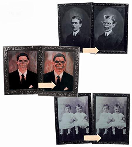 Cuadros de Terror para Halloween de 48x35 cm. 2 surtidos
