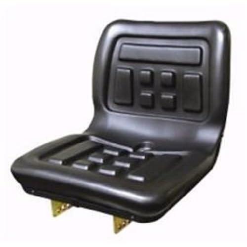 seat compact tractor polyurethane with flip brackets black yanmar ford  massey ferguson international kubota new holland