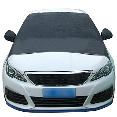 Ajing Car Windscreen, Car Sun Shades Windscreen Snow Cover with Two Mirror Covers, Windshield Ice Cover Dust Sun Shade Protector in All Weather (205 * 150CM)