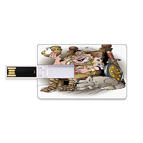 128G Chiavette USB Flash re Archiviazione su Memory Stick del disco U della chiave di affari della forma della carta di credito Famiglia reale scandinava norvegese della Norvegia norvegese con il dent