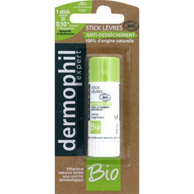 Dermophil Stick lèvres anti-dessèchement bio - Le tube de 4 g