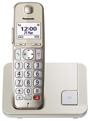 Panasonic KX-TGE250GN Schnurlostelefon (Bis zu 1.000 Telefonnummern sperren, übersichtliche Schriftgröße mit starkem Kontrast , extra lauter Hörer, Voll-Duplex Freisprechen)