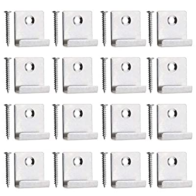 50Pcs Decking Hidden Starter Fastener Board Clip, with Self-tapping Screw Stainless Steel DIY Hardware