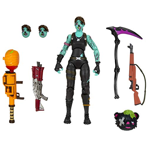 Fortnite Legendary Series, 1 Figure Pack - 6 Inch Ghoul Trooper Collectible Action Figure - Includes Harvesting Tool, 3 Weapons, 1 Back Bling, 3 Interchangeable Faces - Collect Them All