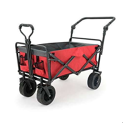 InChengGouFouX Carro Plegable Plegable Plegable al Aire Libre Jardín Utilidad vehículo se Utiliza for Acampar al Aire Libre de Compras y Transporte de mercancías Mango Extensible