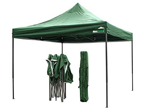 MaxxGarden - Gazebo pieghevole, 3 x 3 m, impermeabile, con custodia, protezione UV 50+, colore verde