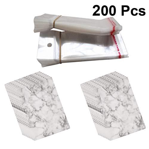 HEALLILY kleine Grafikkarten hängen Halter Veranstalter für Ohrring Ohrstecker Jewerly 200pcs Stil 1