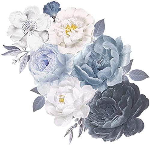 2 unids arte decoración de la pared pegatinas de pared acuarela rica flor de flores para la sala de estar sofá dormitorio dormitorio autoadhesivo pintura pared decalación de pared arte etiqueta engoma
