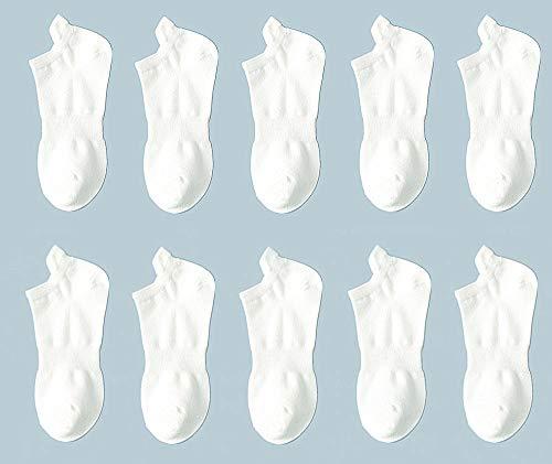 【5足入り】靴下 レディース ソックス 白 ショート丈 くるぶし クルー 蒸れない スポーツ アウトドア 22-25CM (女性)