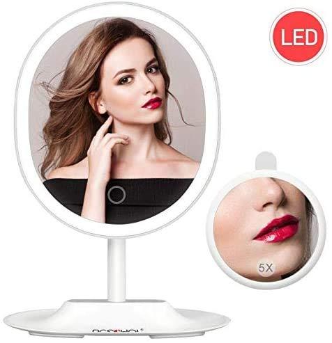 BESCHOI Espejo Maquillaje con Luz LED