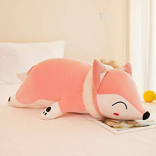 Rugjut Soft Pillow Fox Plush Toy Cuddly Toy Animal Hugging Stuffed Lumbar Sleeping Pillow Birthday Christmas Gifts Doll For Baby Kids Home Decor Sofa Back Cushion
