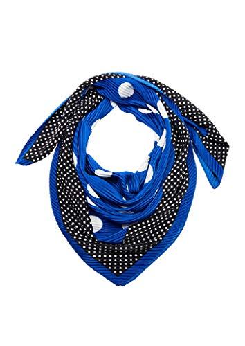 s.Oliver RED LABEL Damen Tuch aus plissiertem Satin blue placed print 1