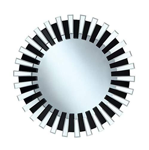 YUFHBDI Nordic Style Badkamer Spiegel, Wandmontage Decoratieve Spiegel, Zonnespiegel Dressoir Wastafel Spiegel, Open haard Spiegel Wandmontage Woonkamer Make-up Spiegel