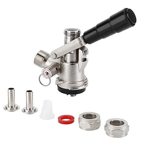 Dispensador de cerveza - Acoplador de barril Dispensador de cerveza de barril tipo S con válvula de alivio de presión de seguridad Sistema de elaboración casera