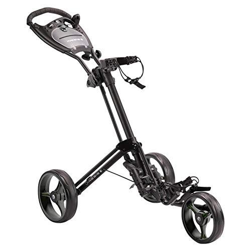 LY Carros de Golf Carrito Plegable Ligero 3 Ruedas Carro Empuje con Mango Ajustable