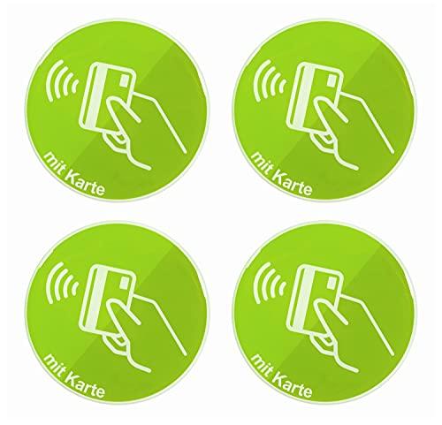 BIKE-label Skylt 3D-klistermärken Dm 70 mm 4 stycken kontaktlösa betala EC-kort 900209VE