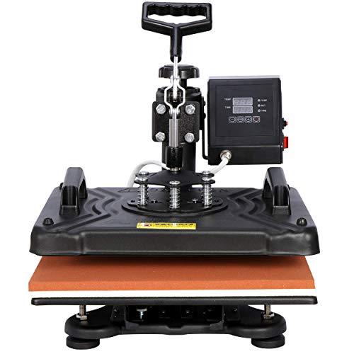 Smartxchoices Pro 5 in 1 Heat Press Machine Combo 360-degree Rotation 12' x 15' Swing Away Digital Sublimation Heat Transfer Machine for T-Shirts Hat Mug Plate Cap Sports Bottle