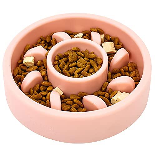 Kaiyingxin Hundenapf Anti Schling, Antischlingnapf Hunde Katzen, Rutschfeste Hund Schüssel für Grosse Mittel Kleine Hunde, Interaktiver Pet Fressnapf, Entlastet die Verdauung