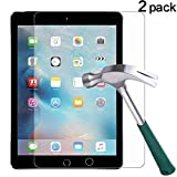 TANTEK [2-Pack] Screen Protector for iPad Pro 10.5 inch,Tempered Glass Film,Ultra Clear,Anti Scratch,Bubble Free,Apple Pencil Compatible