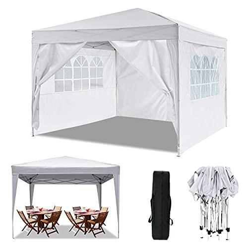 Hiriyt Tonnelle Pliante imperméable 3x3m/3x6m Tonnelle de Jardin Gazebo Pliable Pavillon de Jardin Tente de Reception pour Jardin fête, Protection UV