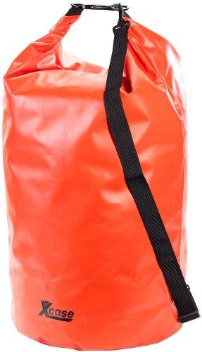 Xcase Schwimmsack: Wasserdichter Packsack 70 Liter, rot (Tasche wasserfest)