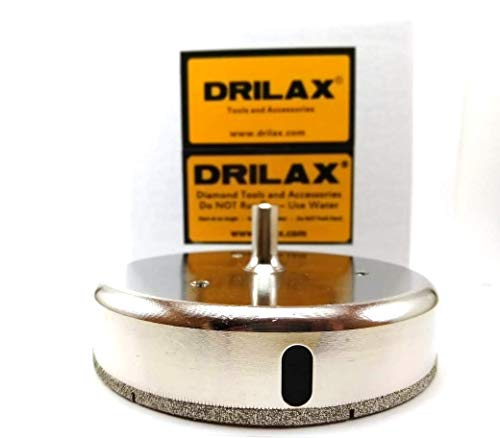 Drilax 4 1/4 inch Diamond Hole Saw Drill Bit Ceramic Porcelain Tile Granite 4.25 in