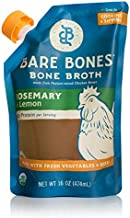 Bare Bones Rosemary & Lemon Chicken Bone Broth for Cooking and Sipping, Pasture Raised, Organic, Protein and Collagen Rich, Paleo, Keto Friendly, 16 oz, Pack of 5