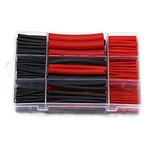 HIXISTO Cable Sleeves,Cubre Cables 270 unids 3: 1 Relación retráctil Dual Pared...