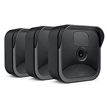 Blink Outdoor Camera Silicone Skin Cover COOLWUFAN Anti-Scratch Protective Cover for All-New Blink Outdoor/Indoor – Wireless Camera System - Blink Outdoor Camera Best Accessories  Black  3 Packs