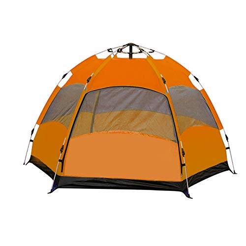 Instant Automatic Pop Up Tent, 5-8 Person Portable Beach Outdoor Sun Shelter with Carry Bag UV Protection Suitable for Family Garden Camping Fishing Hiking Quick Open Travel Backpacking Picnic,Orange