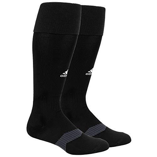 adidas Metro 4 Soccer Socks (1-Pair), Black/White/Night Grey, X-Small
