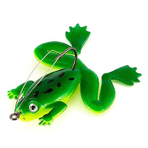 HKDZB Cebo de Pesca biónico con Lentejuelas con Lentejuelas de Rana PVC 3D Black Black Fish Matando Cebos Pesca al Aire Libre Accesorios Accesorios Barco de Engranajes (Color : Army Green)