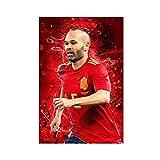Andres Iniesta Fußball-Poster, Leinwand-Poster, Wandkunst,