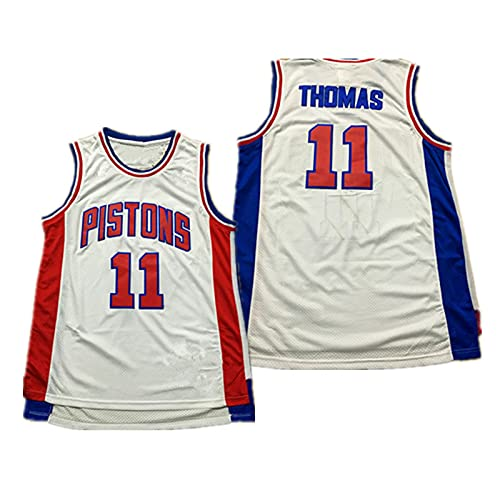 YXST Camiseta De Baloncesto NBA Pistones # 11#10 Malla Bordada De PoliéSter Top,RéPlica De Jugador De Baloncesto Secado RáPido Y Transpirable,White11,XL