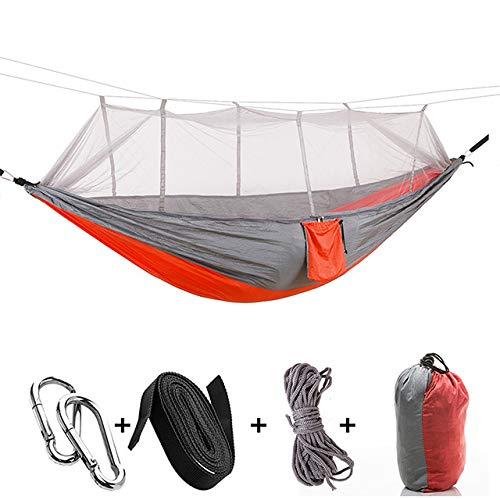 DIRUIDA Hamaca Ultraligera Camping,260 * 140 Cm Cama Doble para Dormir Persona Envío Directo Hamaca Portátil para Acampar Al Aire Libre