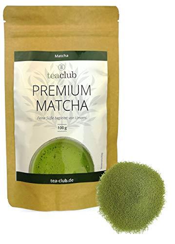 Premium Grade Matcha Tee Japan 100g, Cremig mit Umami, Japanischer Grüner Tee 100% Natürlich Grüntee-Pulver, Tea-Club
